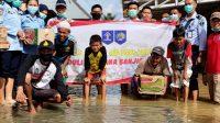 Lapas Banjarbaru Salurkan Bantuan ke Sungai Alat dan Posko Mandiangin