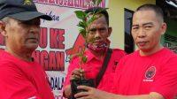 Peringatan HUT PDIP Banjarmasin Timur Ditandai Tanam Pohon