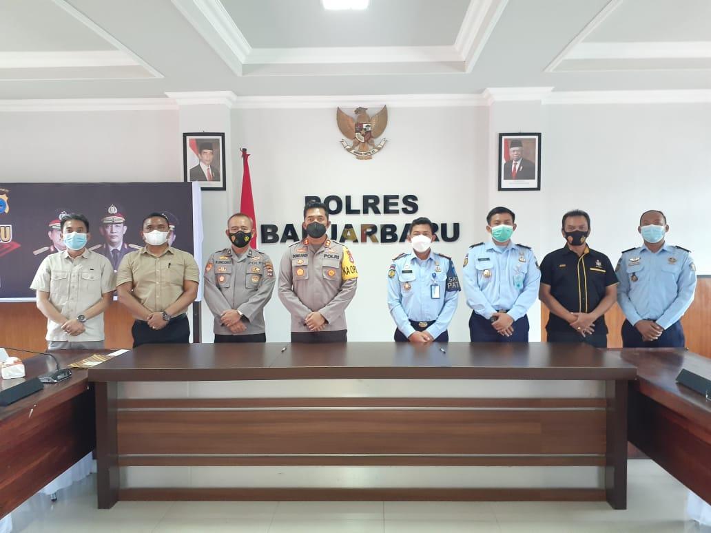 Kalapas Banjarbaru Silaturrahmi dengan 5 Instansi Penegak Hukum