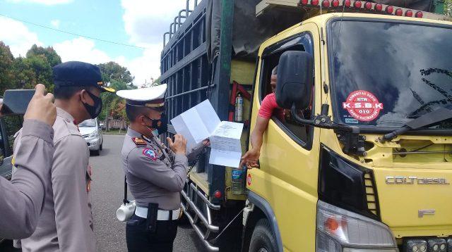 Pemeriksaan di Pos Perbatasan Kalteng-Kalsel Diperketat