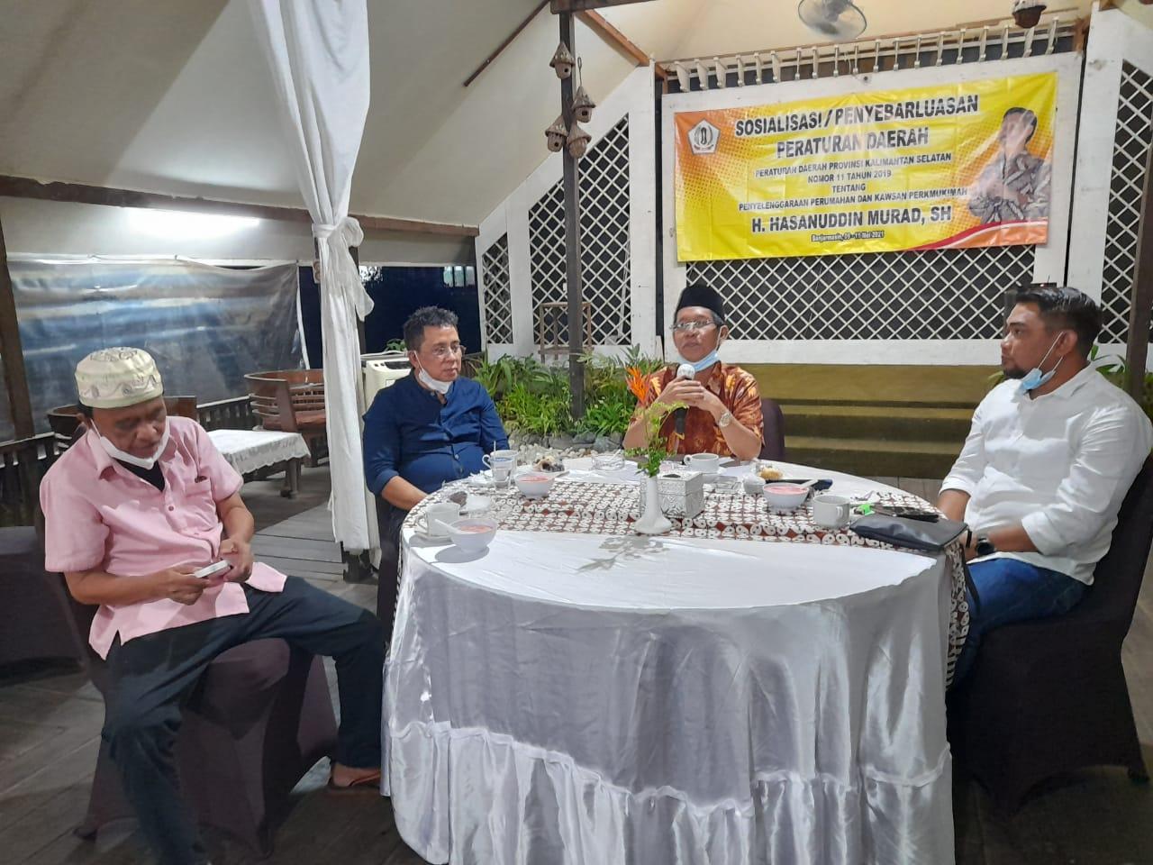 Hasanuddin Murad Sosialisasikan Perda Penyelenggaraan Perumahan dan Kawasan Permukiman di Batola