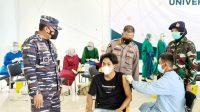 Lanal Banjarmasin Gelar Vaksinasi di Kampus ULM