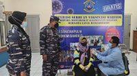 Kerja Nyata TNI AL Lanal Banjarmasin Gencarkan Vaksinasi