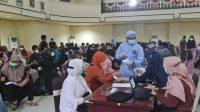 Lanal Banjarmasin Gandeng Kadin Kabupaten Banjar Gelar Vaksinasi